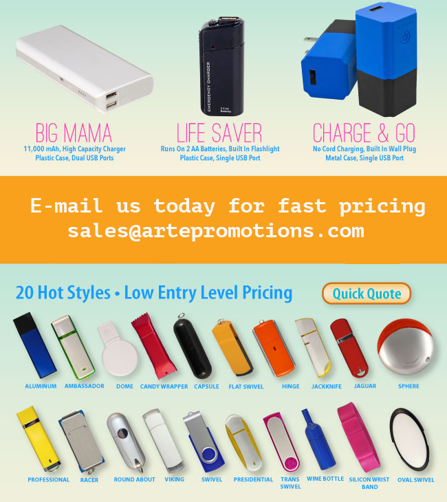 Personalized Power Bank Chargers • 